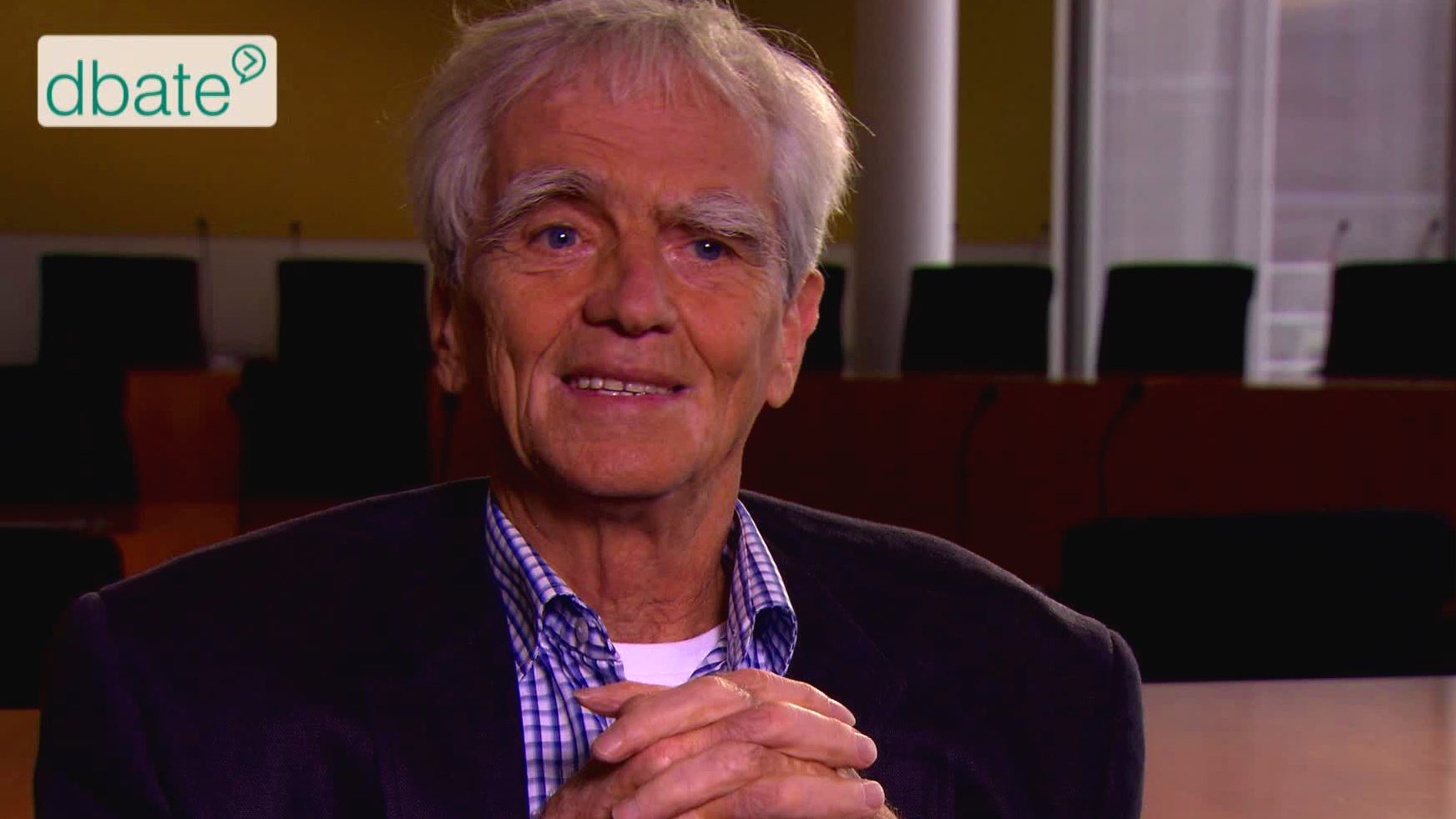 Grünen-Politiker Hans-Christian Ströbele im Interview mit Stephan Lamby.