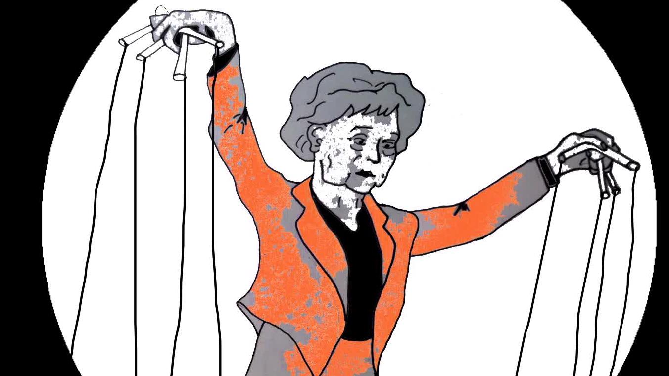 Angela Merkel als Comicfigur