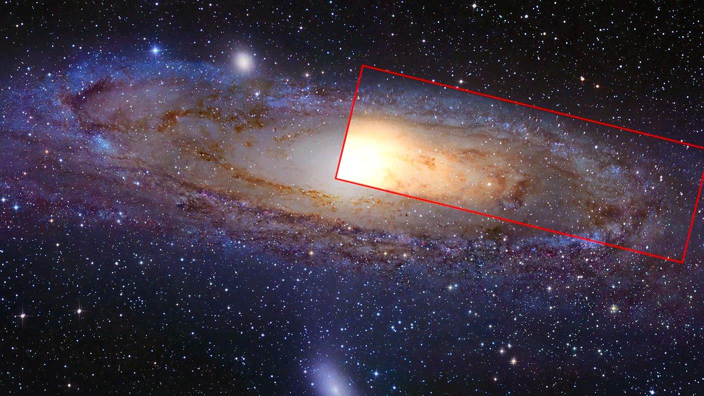 Ein NASA-Foto der Andromeda-Galaxie.