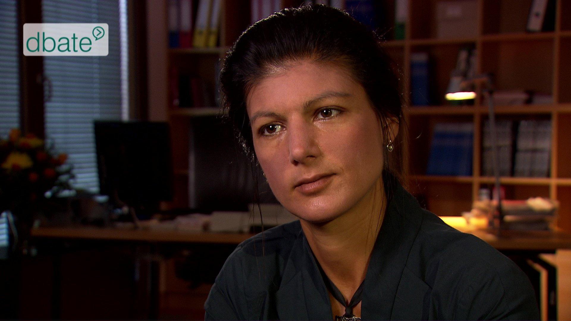 Co-Fraktionsvorsitzende der LINKEN Sahra Wagenknecht im Interview.