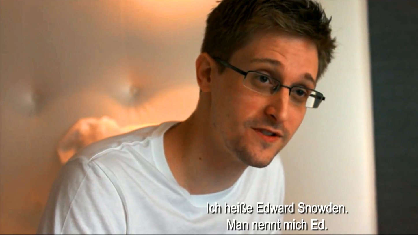 Edward Snowden in Citizenfour.