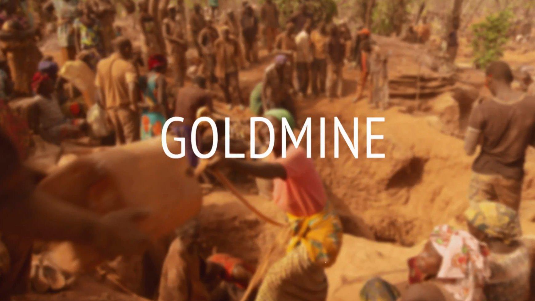 Eine Goldmine in Berlin, Guinea.