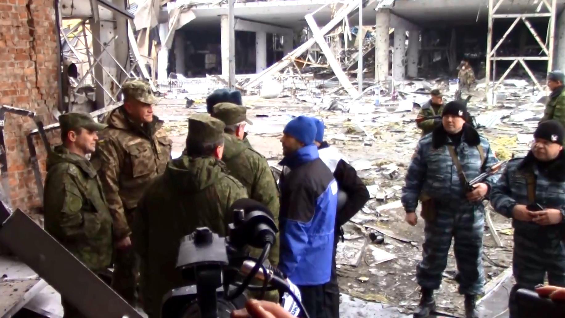Der zerstörte Flughafen Donezks.