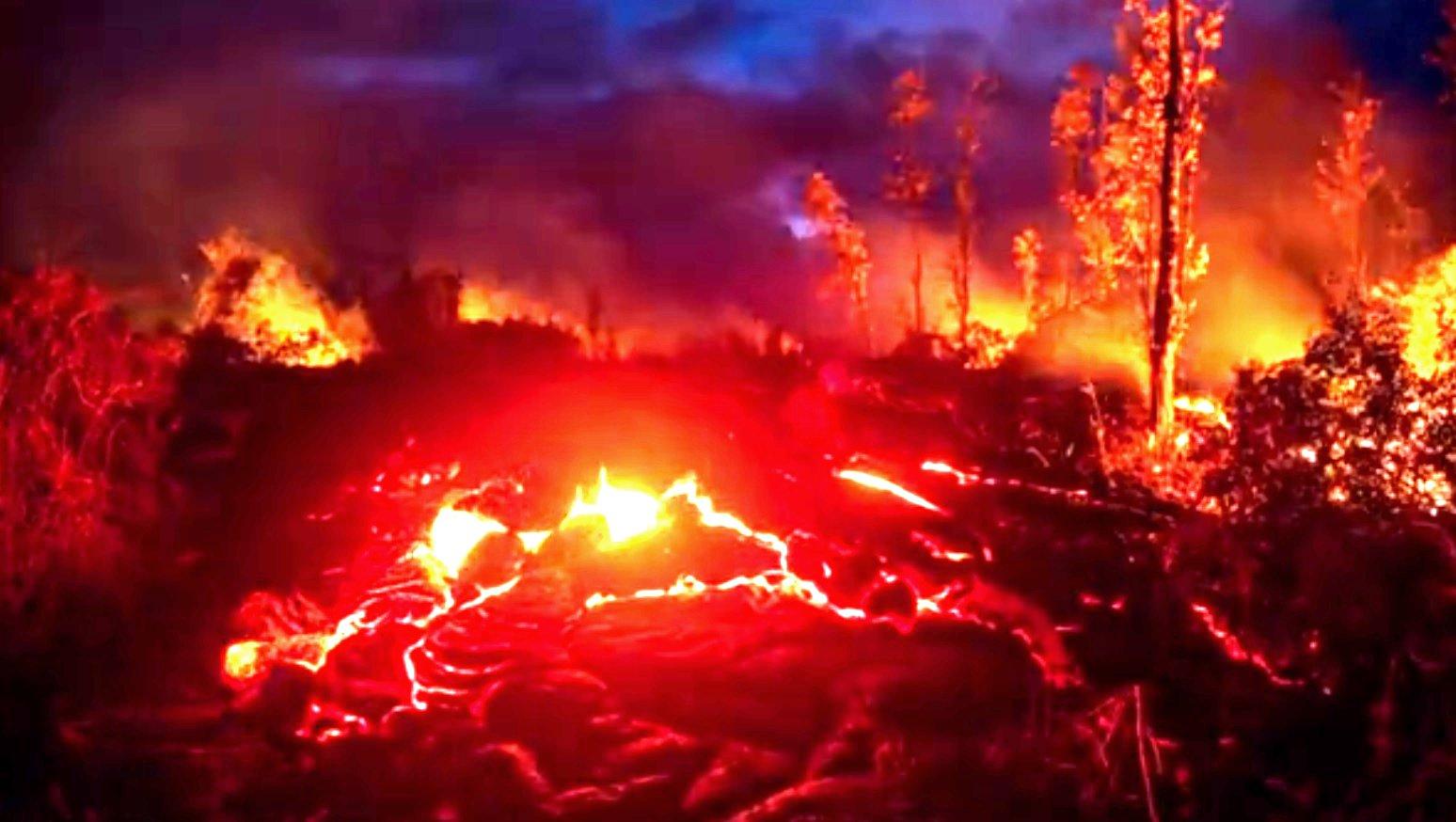 Vulkan auf Hawai.