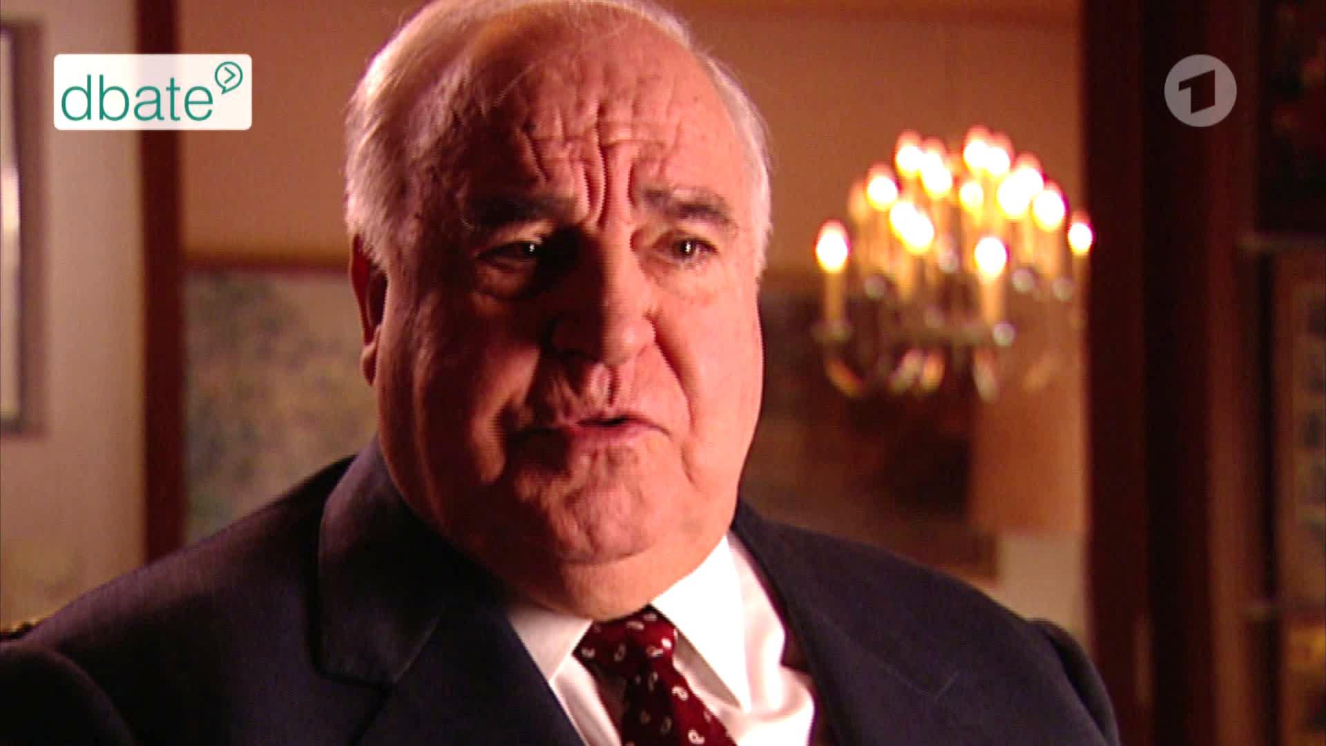 Ex-Bundeskanzler Helmut Kohl im Interview mit Michael Rutz und Stephan Lamby.