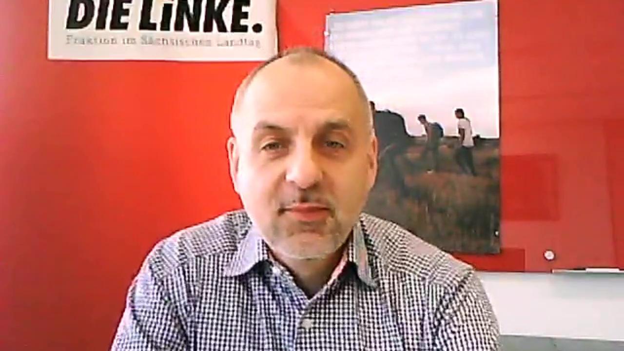 Rico Gebhardt, Fraktionsvorsitzender DIE LINKE im Sächsischen Landtag, 2015.