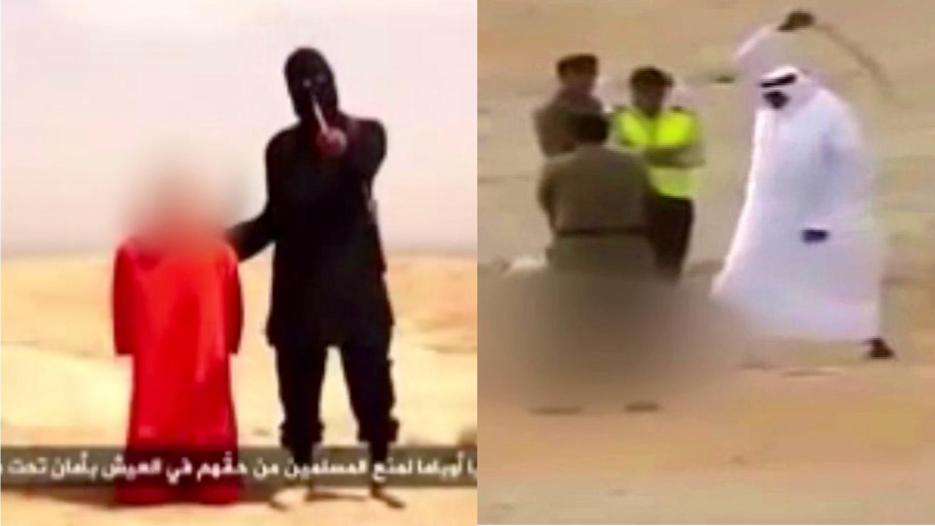 """Saudi-Arabien: 47 Hinrichtungen an nur einem Tag. Die Strafen sind ähnlich brutal wie beim """"Islamischen Staat"""". Wie gehen wir mit Menschenrechtsverletzungen von Geschäftspartnern um? dbate.de stellt die Frage: Hinrichtungen in Saudi-Arabien und beim """"IS"""" - was ist der Unterschied?"""
