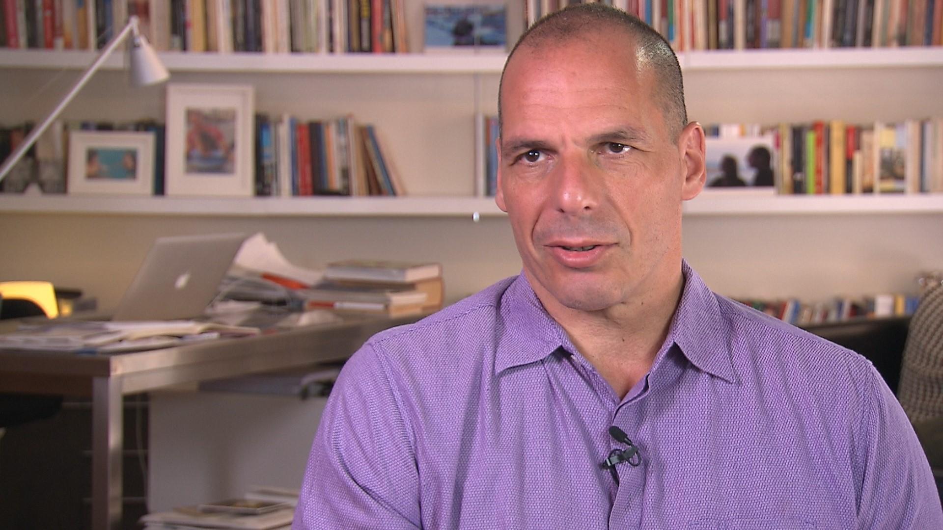 Griechenlands ex-Finanzminister Yanis Varoufakis im Interview, 2015.