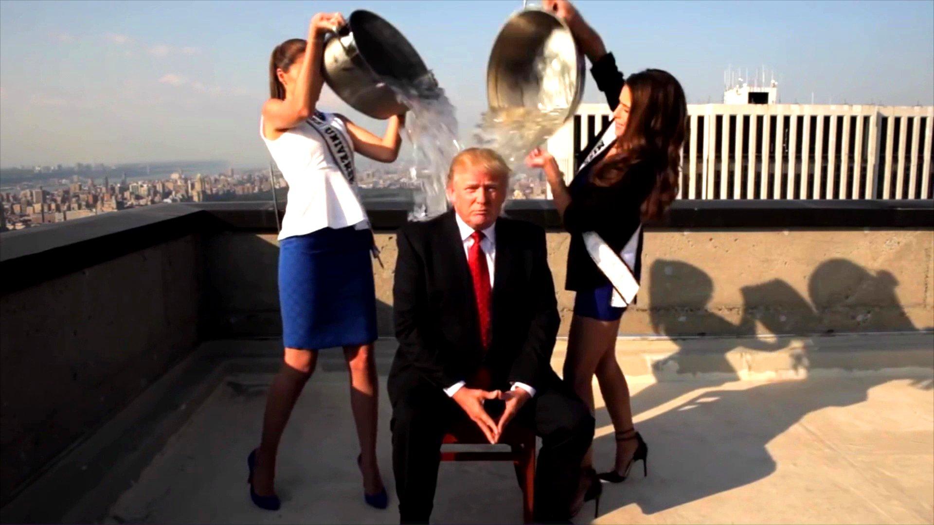 Donald Trumps Ice Bucket Challenge.