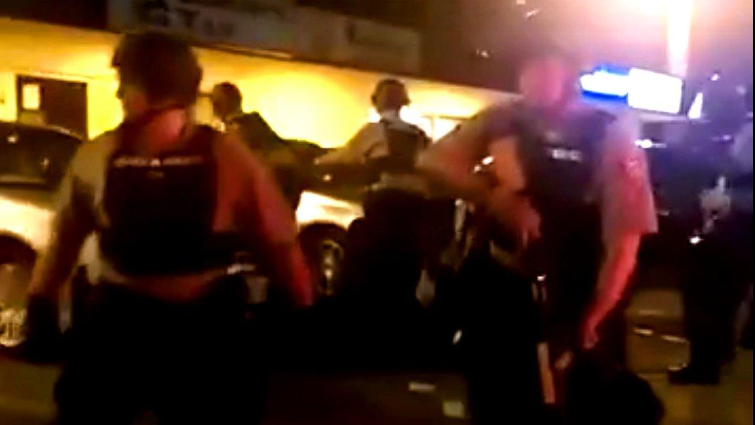 Polizisten in Ferguson, Missouri.