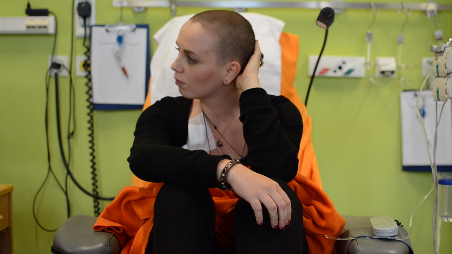 Bloggerin Luise Ganschor bei der Chemotherapie, Leipzig