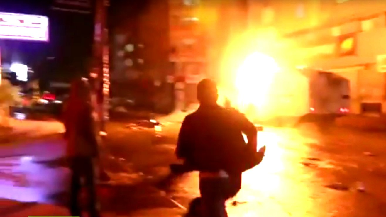 Ausschreitungen in Ankara nach Anschlag auf Friedensdemo, 2015.