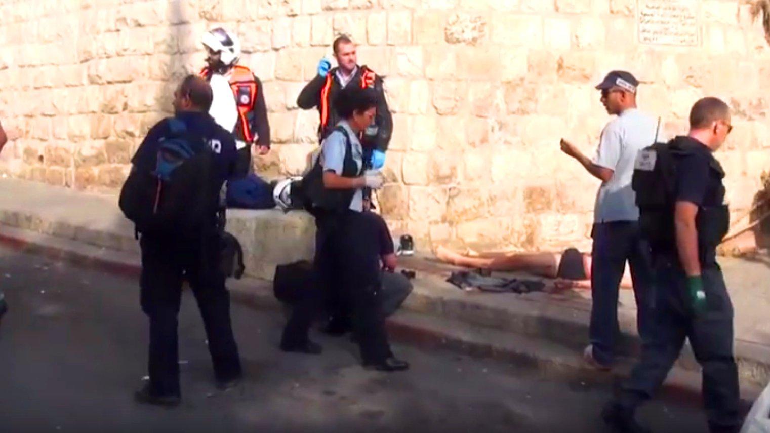 Israelische Polizisten erschießen Palästinenser in Israel, 2015.