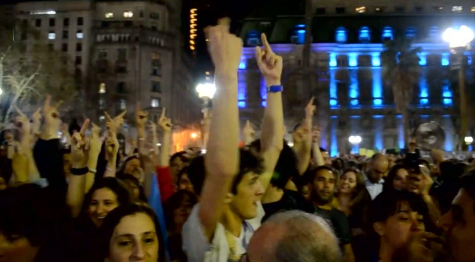 Die Argentinsiche Krise - Deomnstranten in Buenos Aires