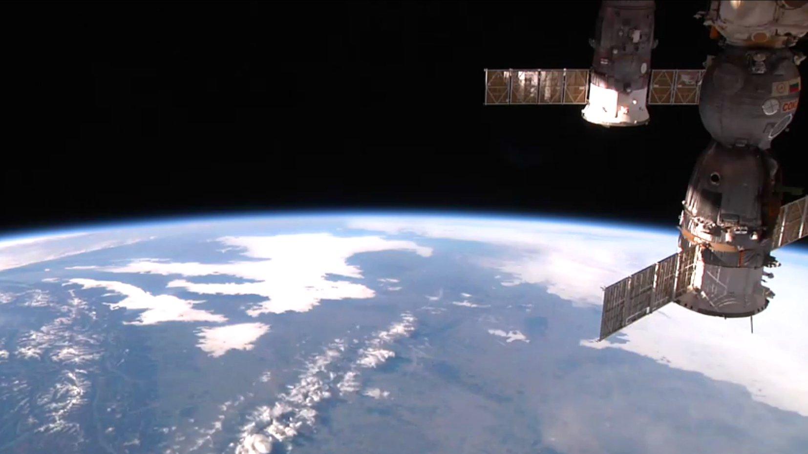 Livebilder von ISS, 2015.