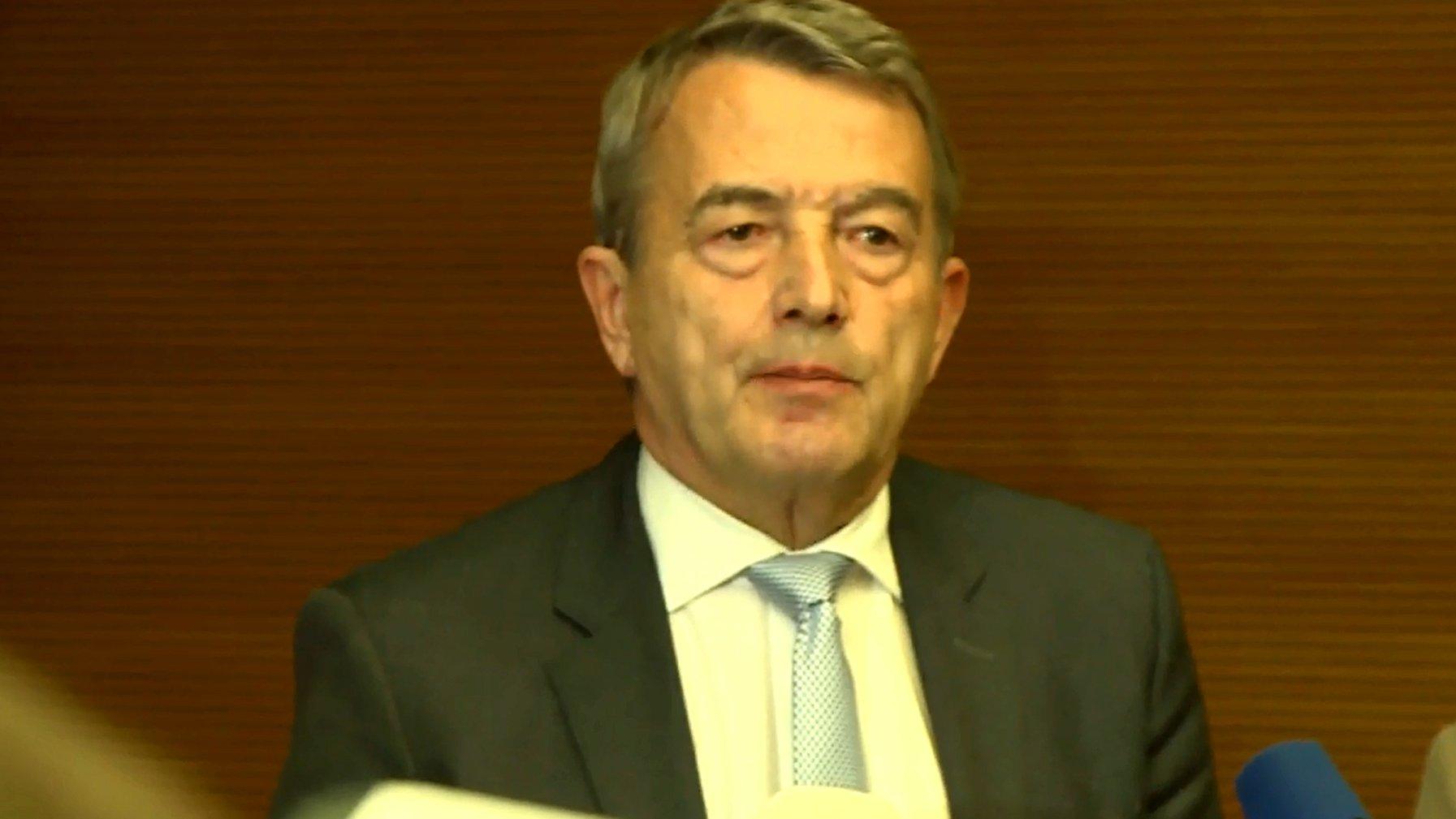 Wolfgang Niersbach tritt zurück, 2015.