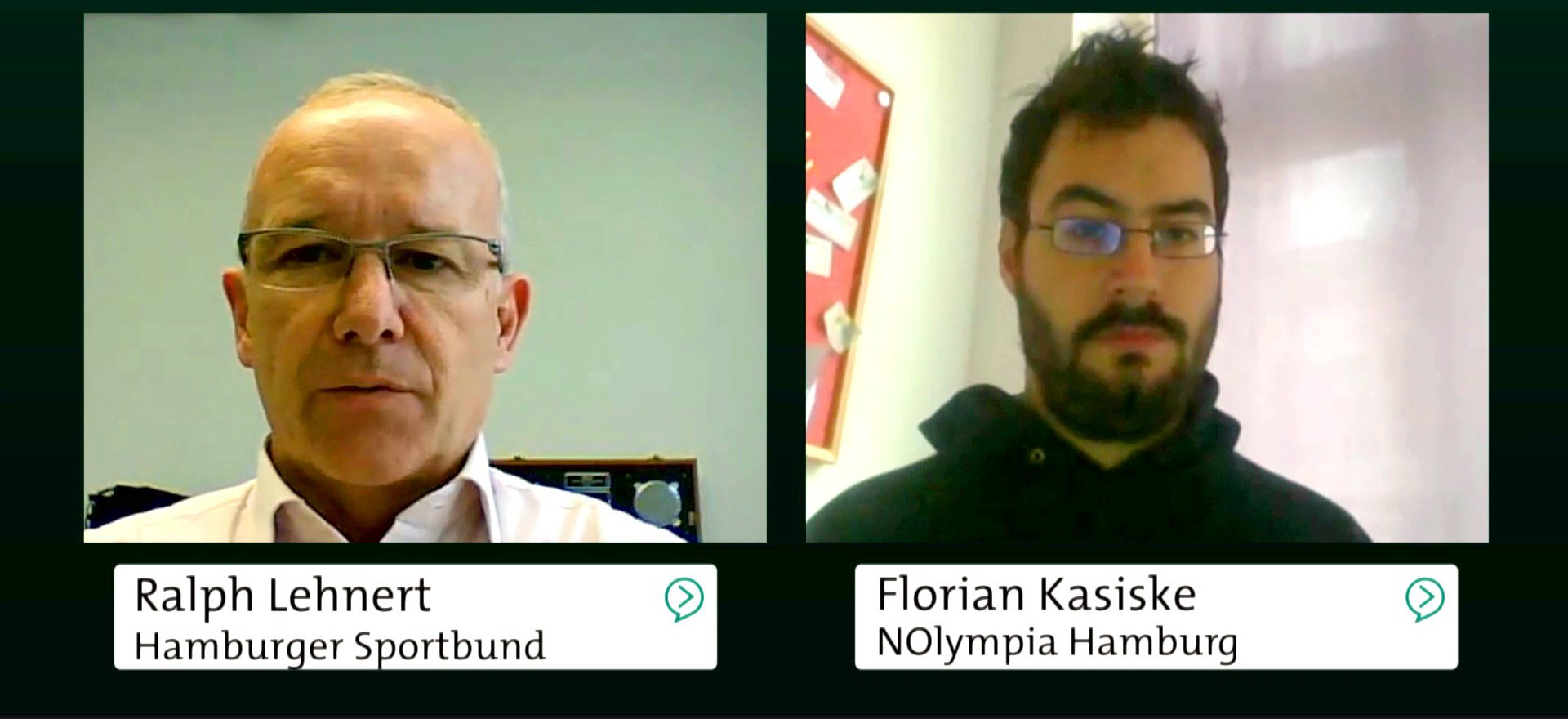 Ralph Lehnert (Hamburger Sportbund) und Florian Kasiske (NOlympia Hamburg), 2015.