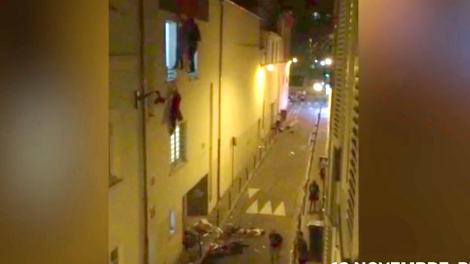 Augenzeugenvideo aus Paris, 2015.