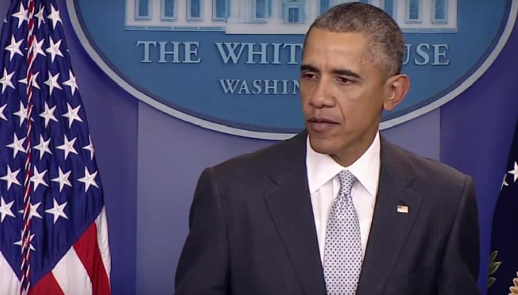 US-Präsident Barack Obama bekundet Beileid zur Terrorserie in Paris, November 2015