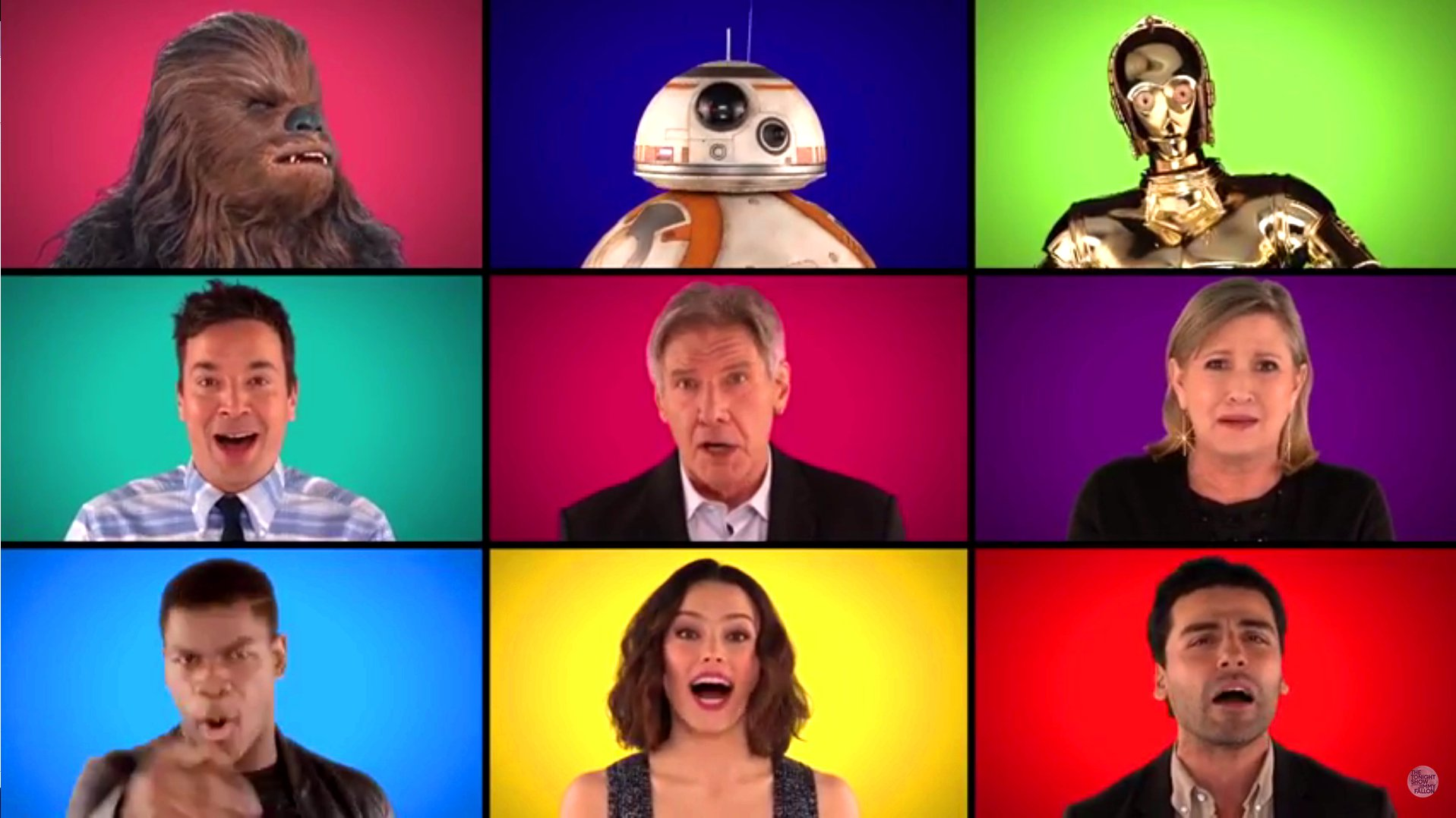 Star Wars-Cast sing Star Wars-Theme, 2015.