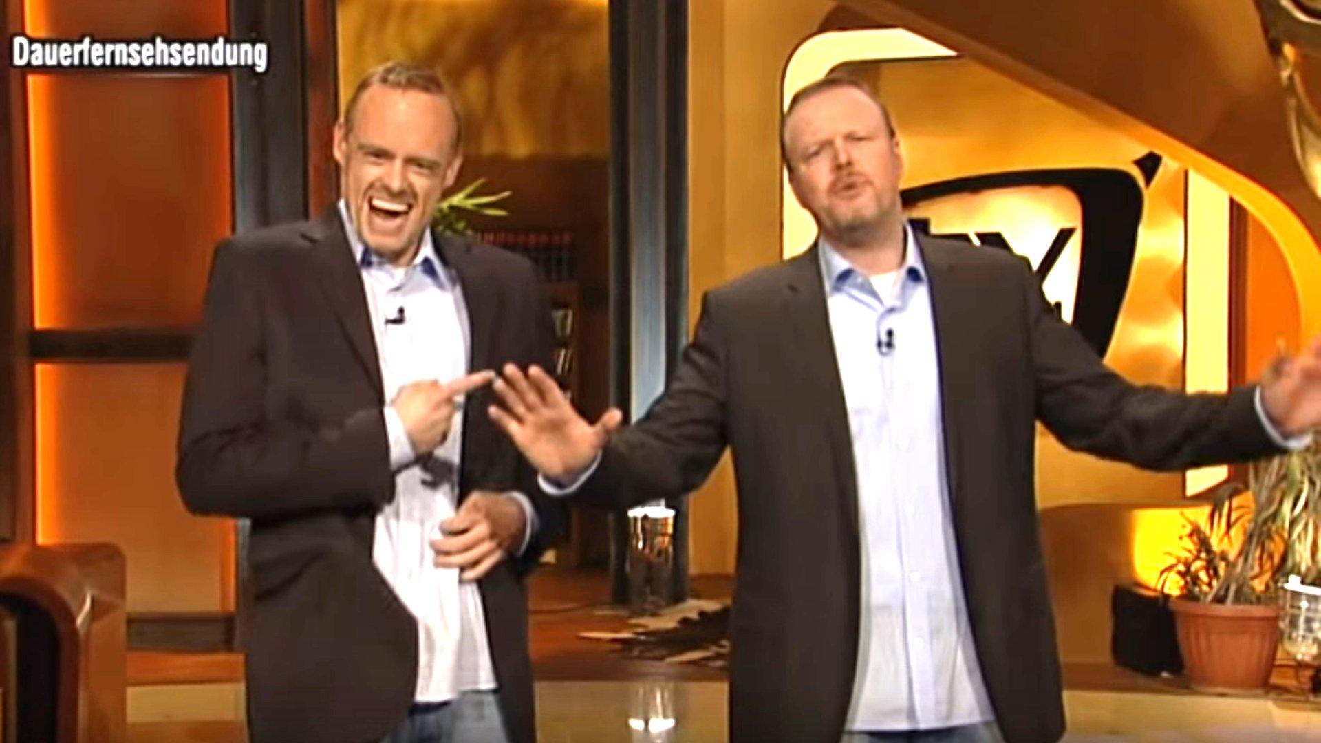 Stefan Raab und Max Giermann, TV Total.