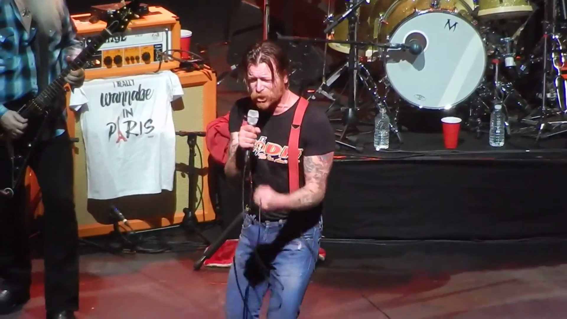 """Eagles of Death Metal"" in Paris, video."