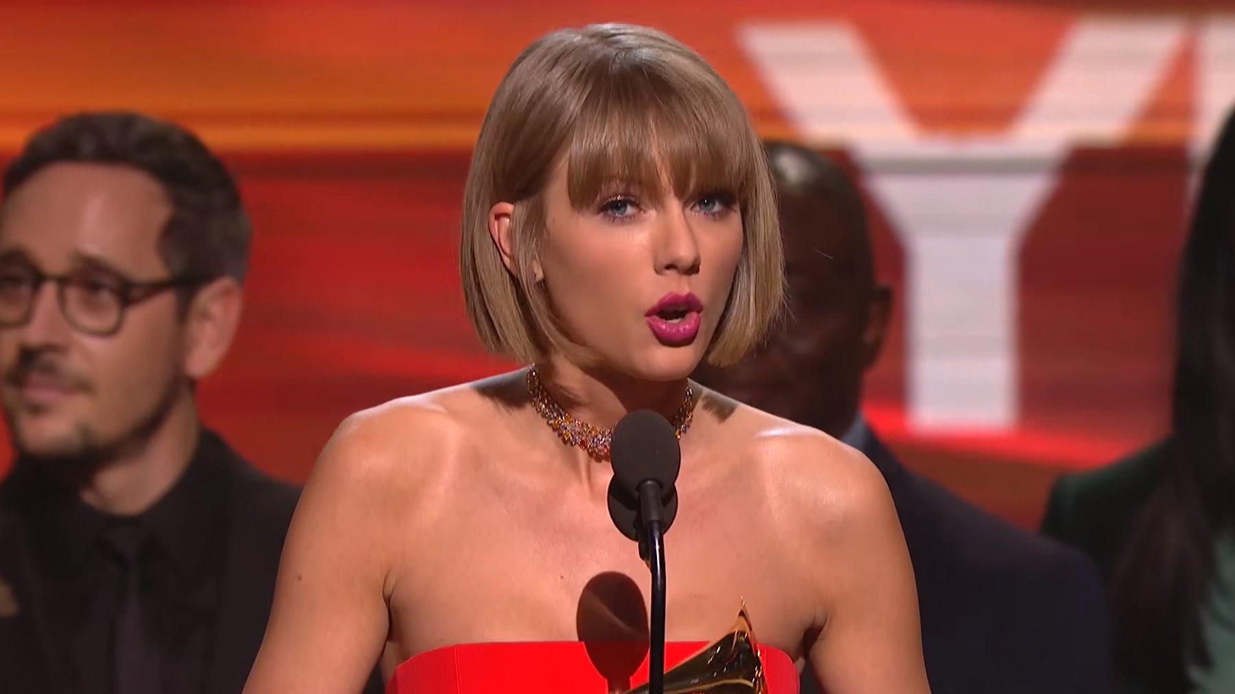 Taylor Swift bei den Grammys, 2016.