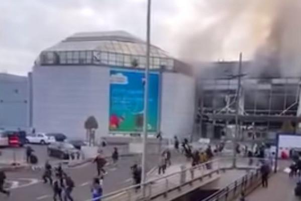 Brüssel Flughafen, Bilder der Explosion