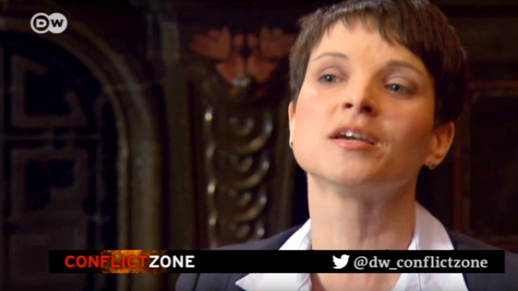 "Tim Sebastian interviewt Frauke Petry bei ""Conflict Zone"", 2016 (Video)"