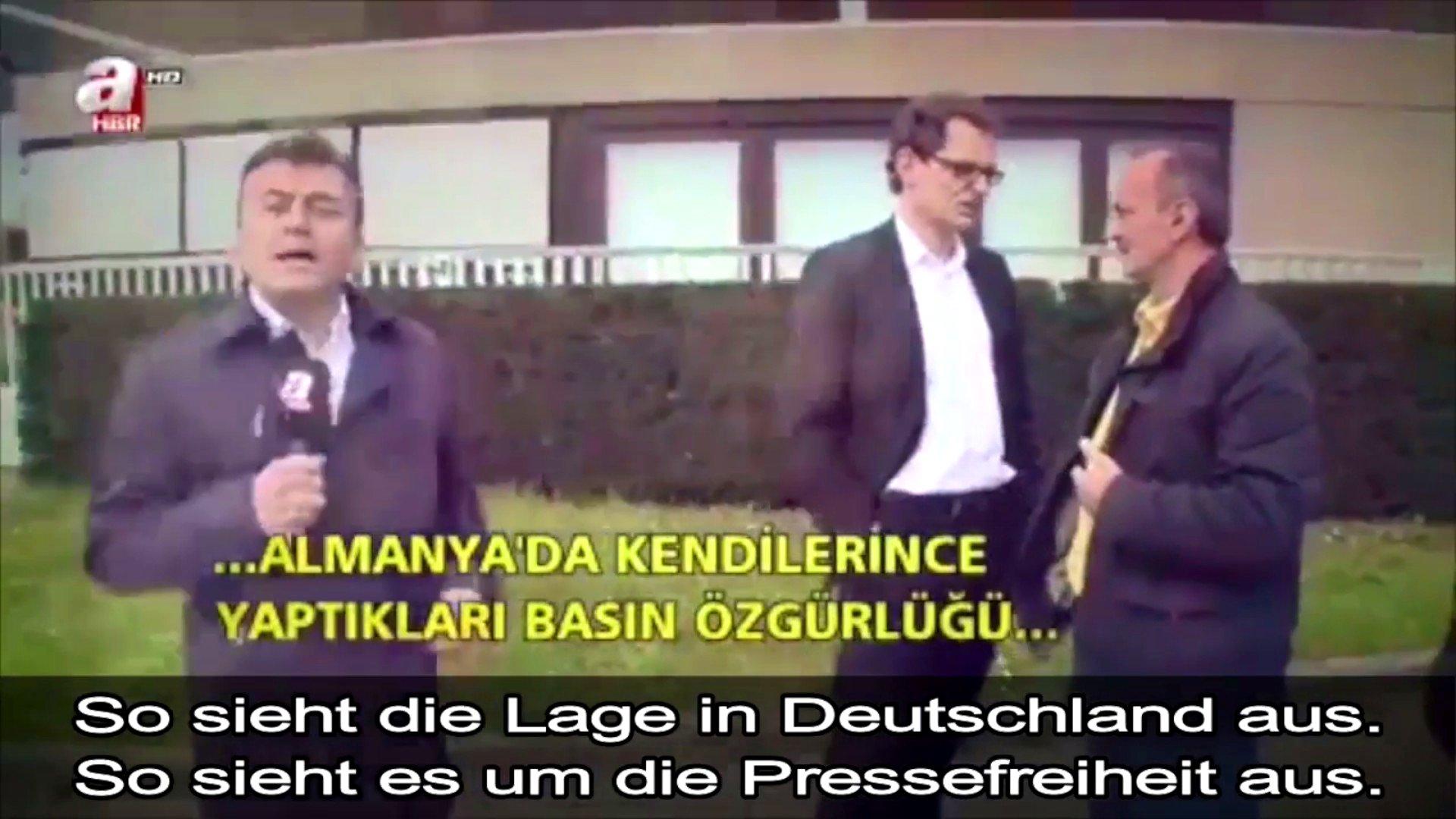 Türkischer Reporter beim ZDF in Mainz, 2016 (Video)