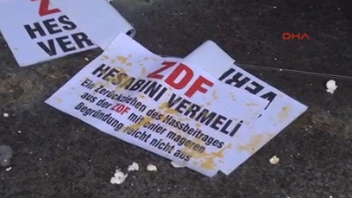 Türkische Demonstranten griffen ZDF-Auslandsstudio an, 2016