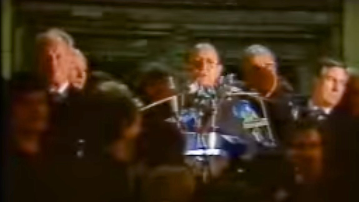 Hans-Dietrich Genscher am 10. November 1989 in Berlin