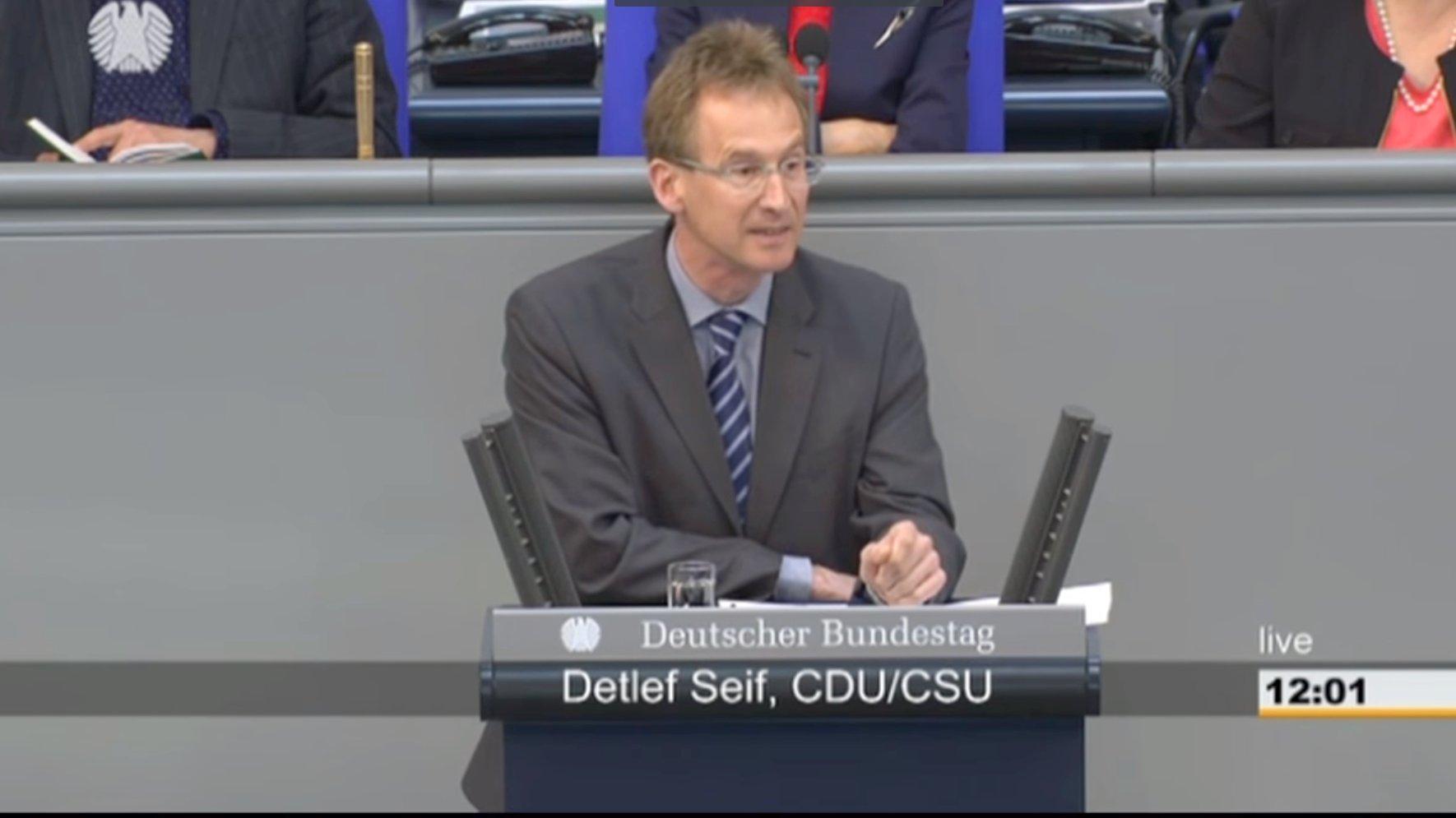 Detlef Seif, CDU/CSU liest Böhmermanns Schmähgedicht im Bundestag vor