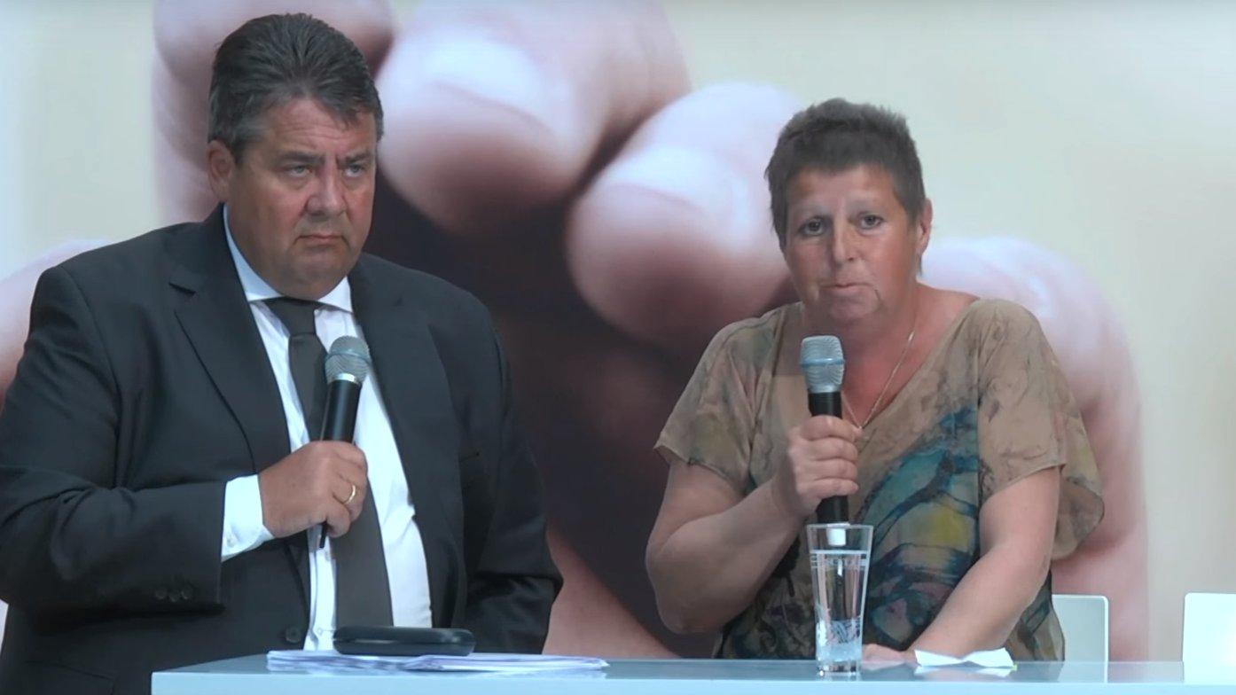 Putzfrau Susanne Neumann bringt Sigmar Gabriel in Bedrängnis