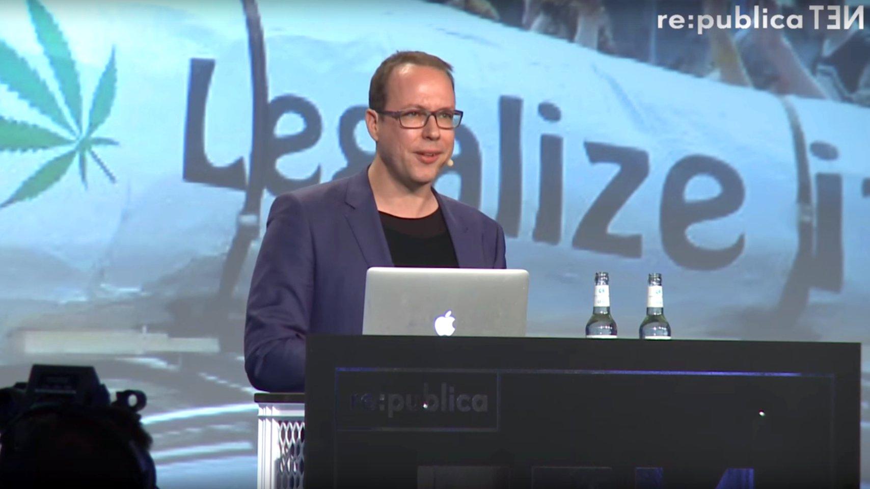 Markus Beckedahl auf der re:publica 2016