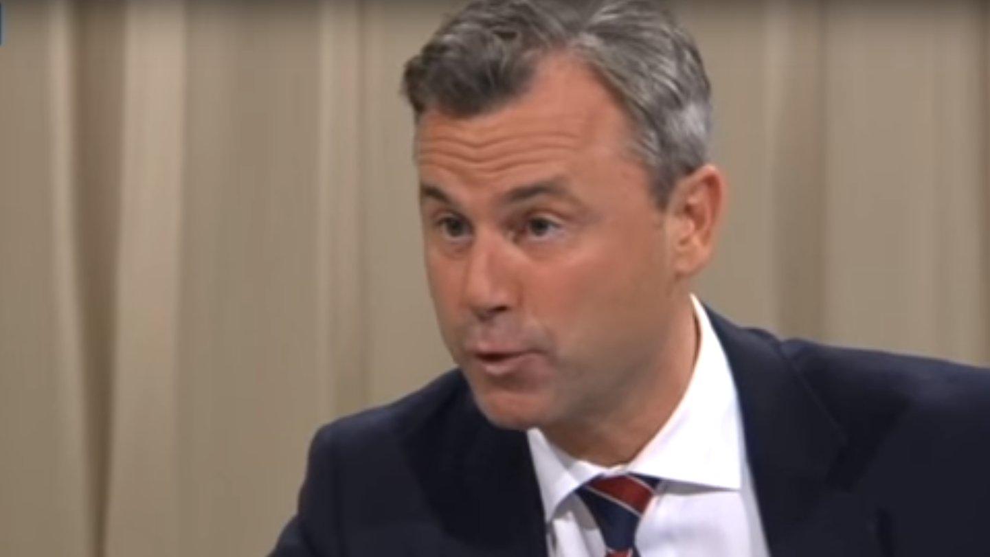 Norbert Hofer (FPÖ) beim TV-Duell in Österreich