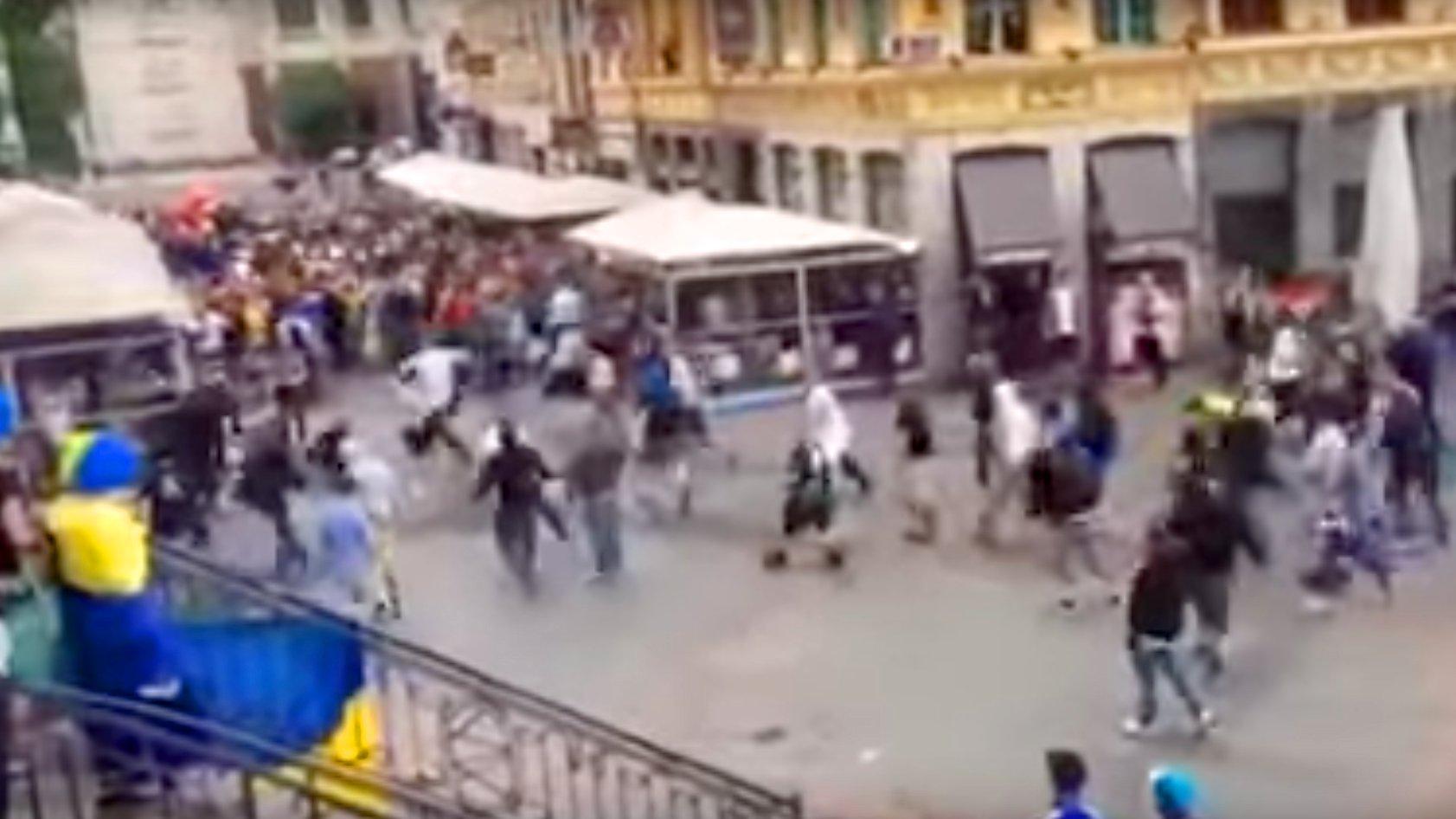 Deutsche Hooligans attackieren ukrainische Fans