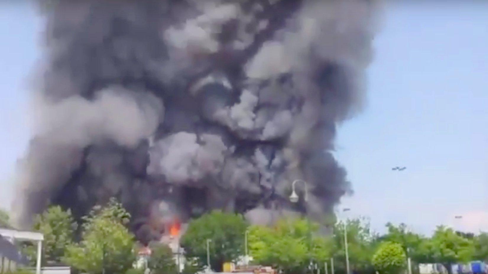 Feuer in Düsseldorf