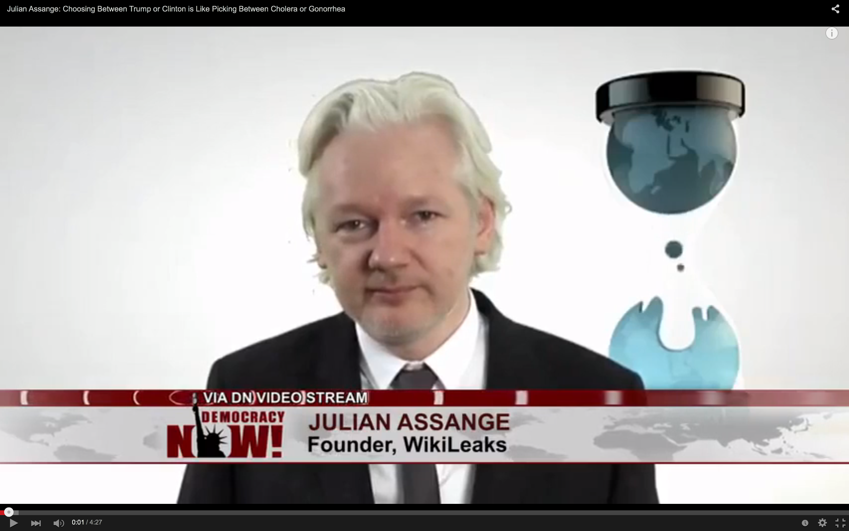 Julian Assange, Democracy Now