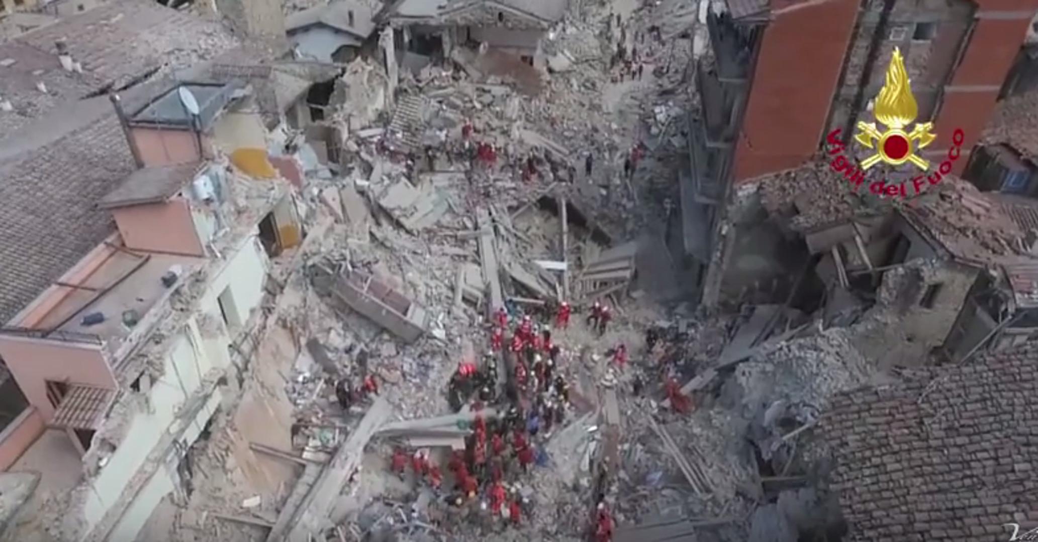 Erdbeben in Italien: Drohnenaufnahmen aus Amatrice
