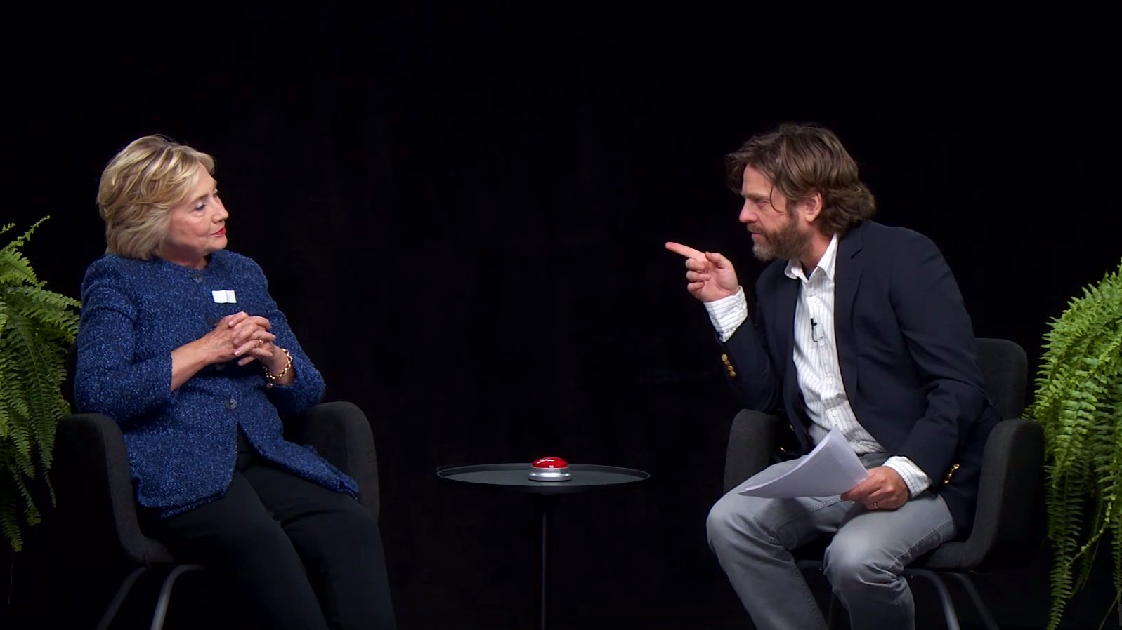 Hillary Clinton und Zach Galifianakis