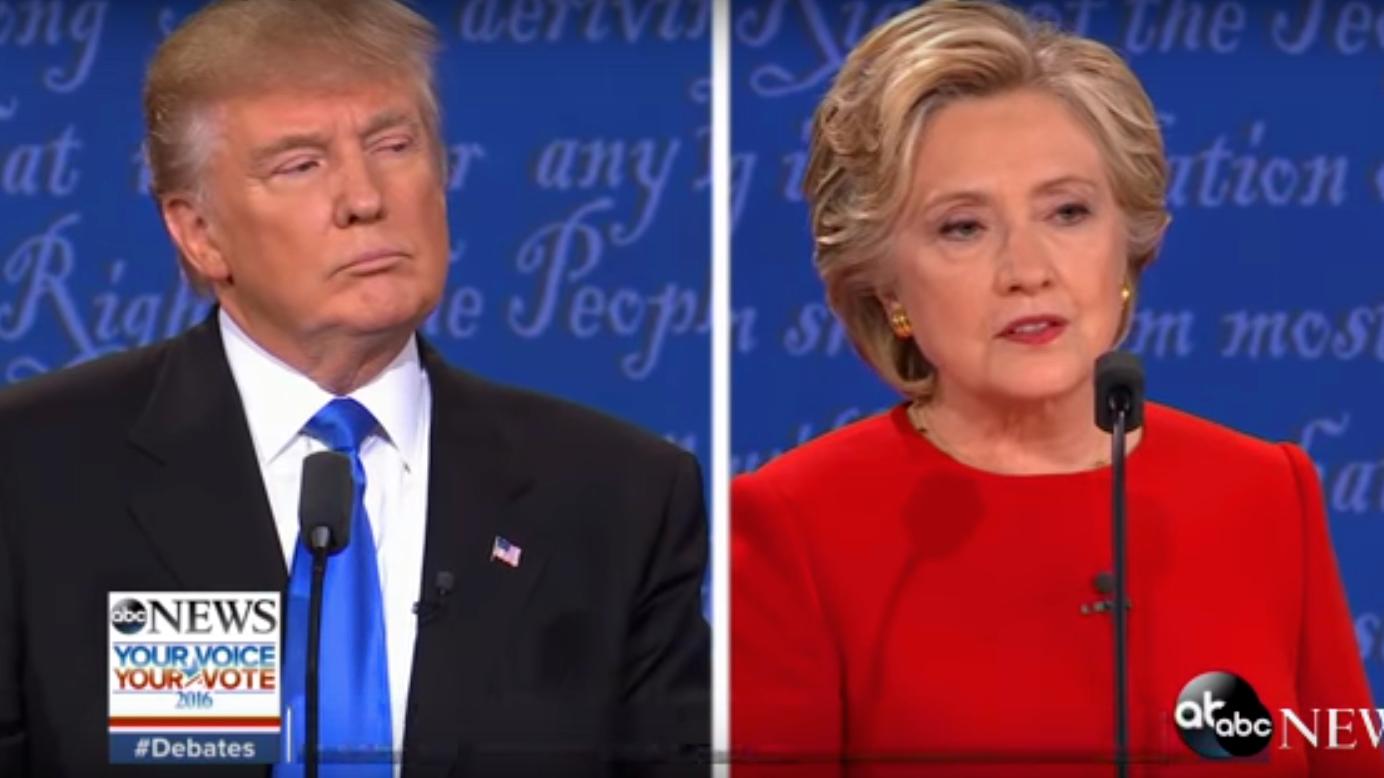 TV-Duell zwischen Hillary Clinton und Donald Trump