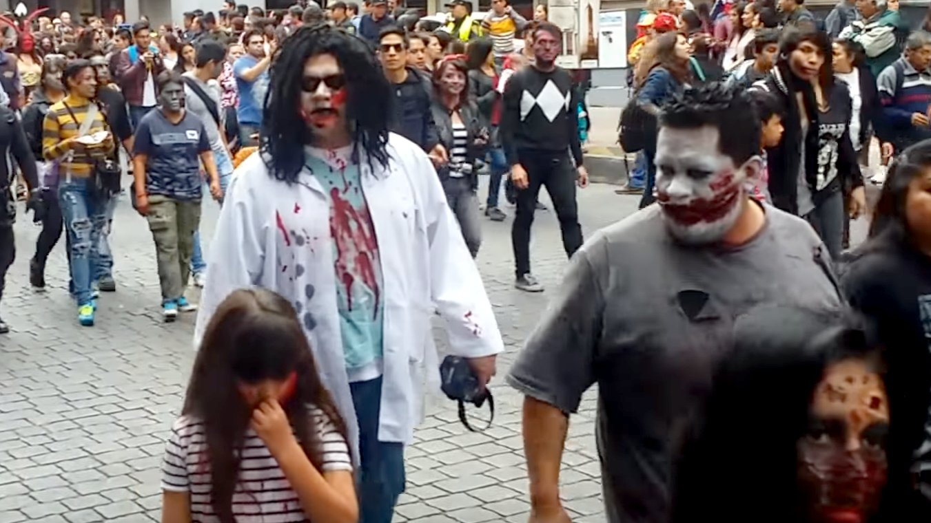 Zombie-Parade in Mexiko-City, Zombiewalk