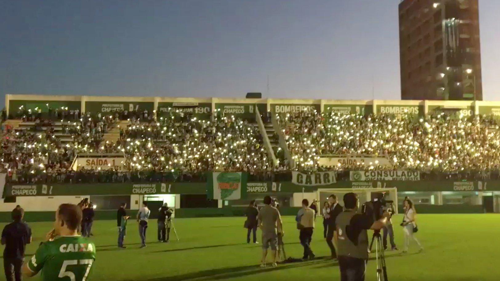 Brasilien: Chapecoense-Fans trauern um ihr Team