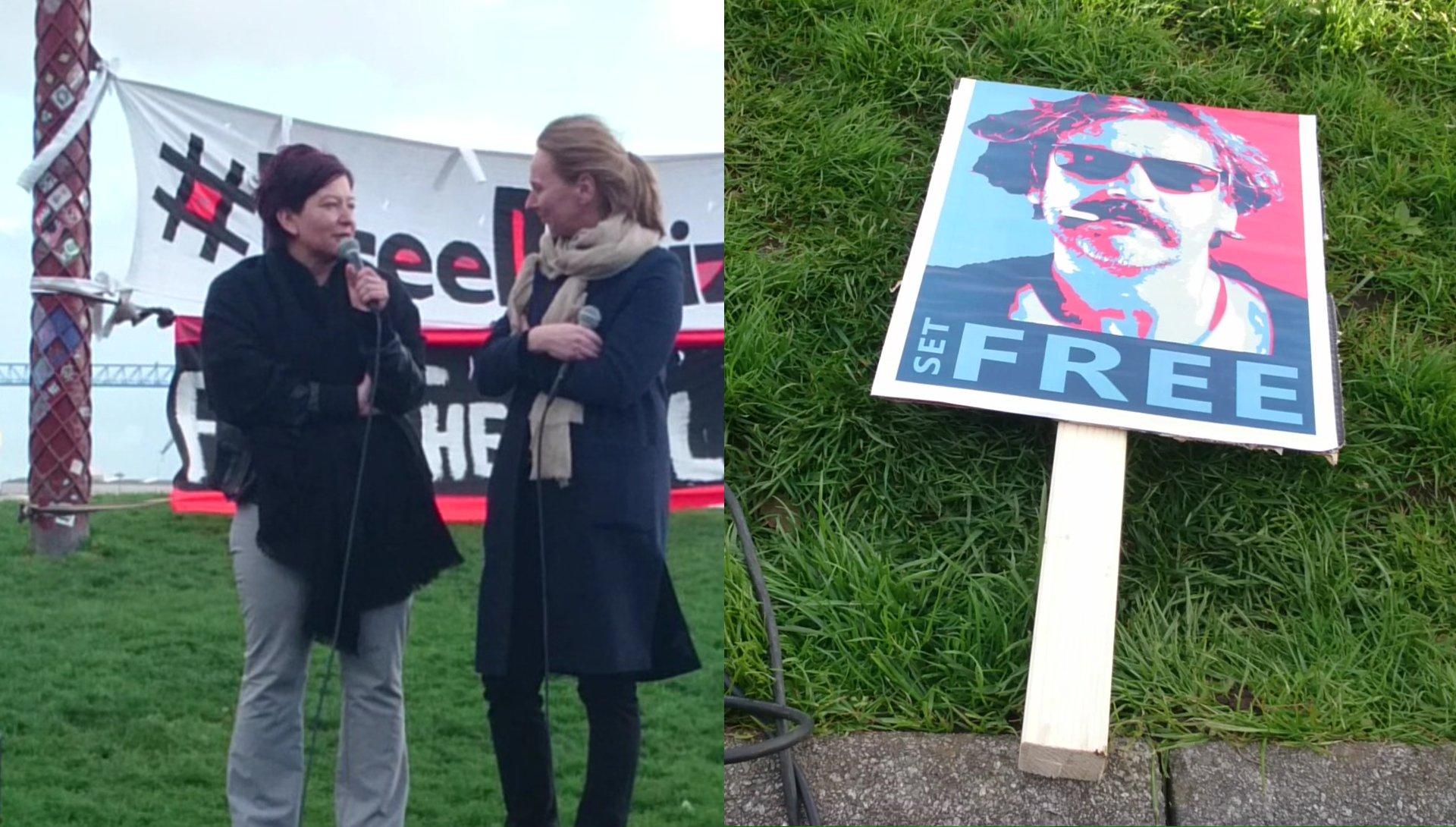 #FreeDeniz: Yücels Schwester spricht bei Kundgebung in Hamburg
