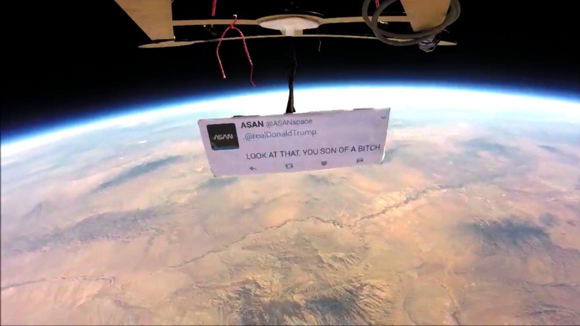 Erster Trump-Protest im Weltraum