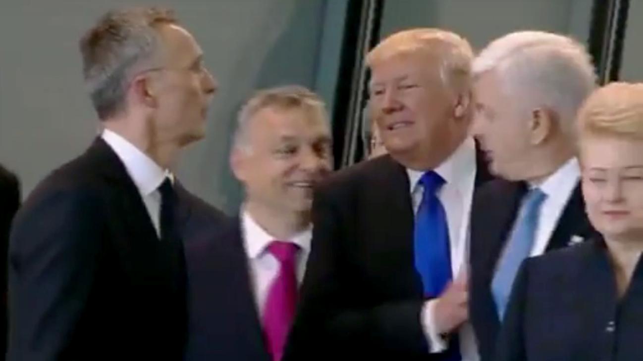 Trump-Schubser: Fremdschäm-Moment beim NATO-Gipfel