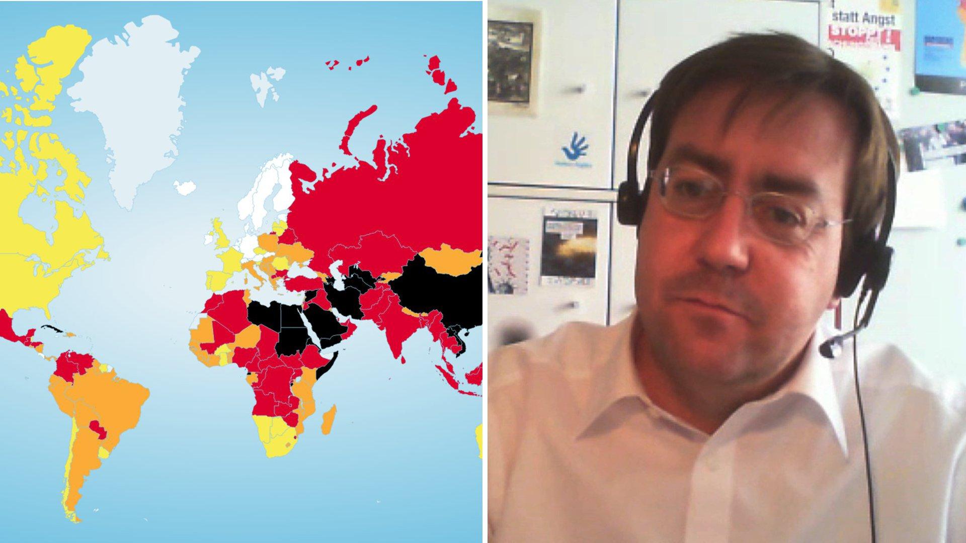 """Reporter ohne Grenzen: """"Pressefreiheit auch in Demokratien bedroht"""""""