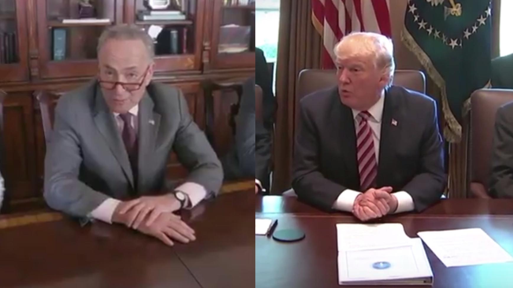 So macht sich der Demokrat Schumer über Trump lustig