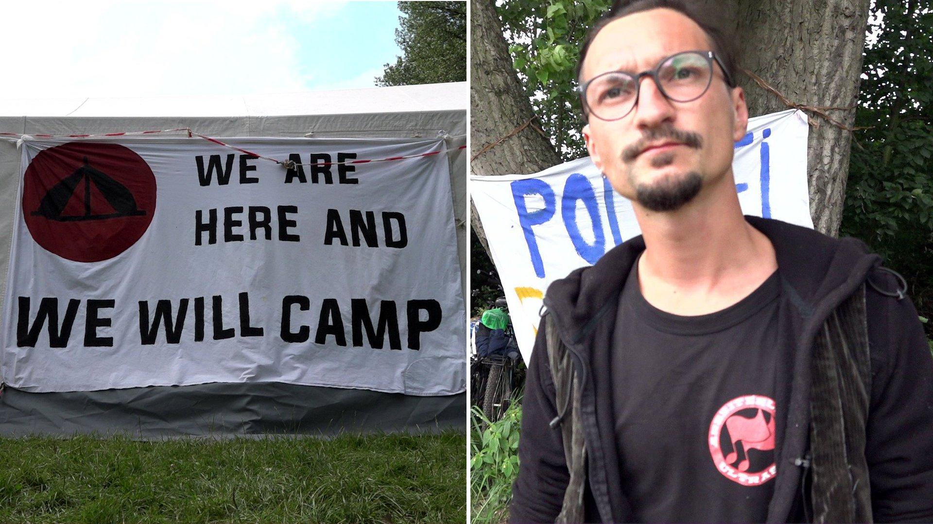G20-Protestcamp in Entenwerder: Fragen an Bewohner Simon